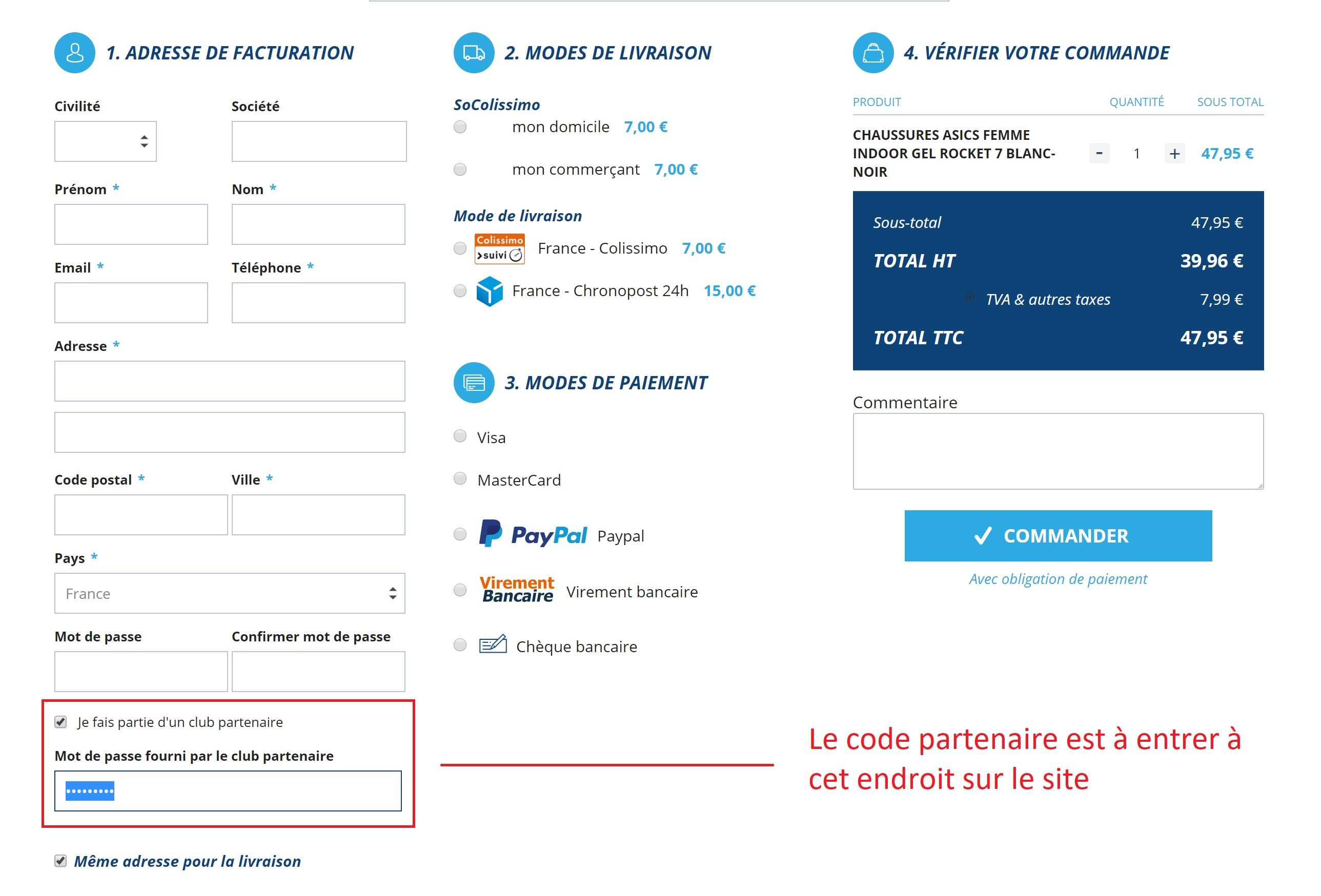 Code partenaire LARDESPORT